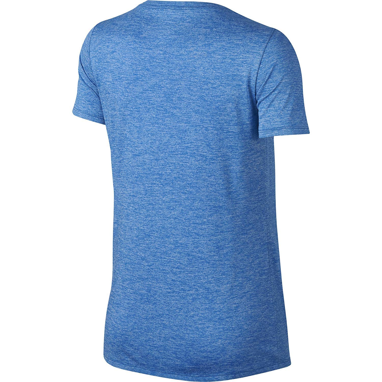 Nike Womens Dri-Fit Yoga T-Shirt Blue S: Amazon.es: Ropa y ...