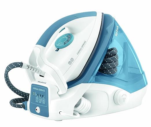 67 opinioni per Ferro da stiro a caldaia Tefal GV7310 Express Compact, colore bianco e azzurro