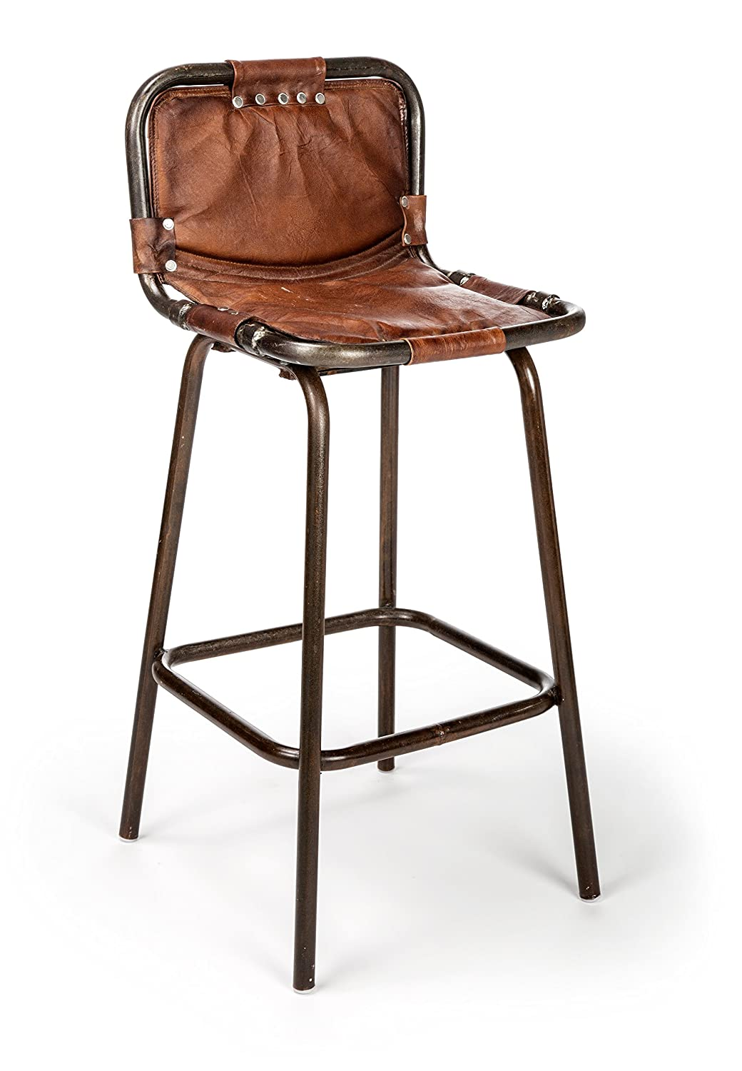 The Barrel Shack The Wayne – Handmade Tall Leather Chair from