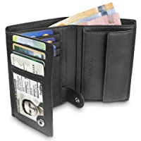 """TRAVANDO Portefeuille Homme""""DUBLIN"""" - Porte-Monnaie Classique - Format Portrait - 10 Rangements pour Cartes - Blocage RFID - Cadeau parfait pour Hommes - Coffret Cadeau -Designed in Germany"""