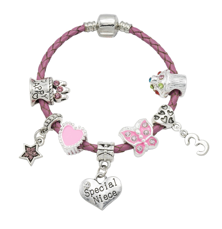 'Special Niece' - Happy 3rd Birthday Bracelet For Girls with Gift Box - Girls Jewellery Jewellery Hut BRSpecial Niece3-16