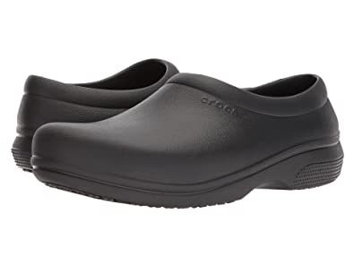 c12575f599c16 Image Unavailable. Image not available for. Color: Crocs On The Clock Work  Slipon Medical Professional Shoe, Black ...