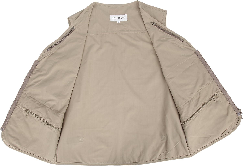 LUSI MADAM Herren Outdoor Sports Multi Tasche Jacke Weste