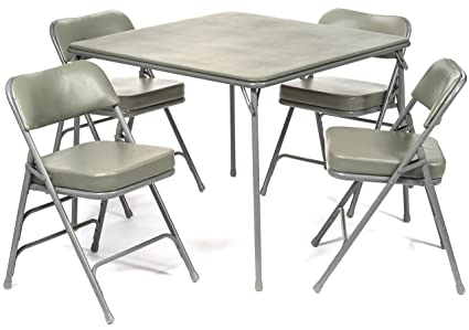 Amazoncom Pc XL Series Folding Card Table And In Ultra Padded - Commercial table and chair sets