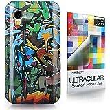 CaseiLike ®-Graffiti-2702, Shell Haut Gel-Snap-on Gehäuseboden cover für Samsung Galaxy Ace S5830 GT-S5830 S5830T S5830i mit Displayschutzfolie