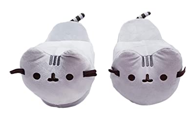 8066c9ca82f0 Image Unavailable. Image not available for. Color  Pusheen Plush Slippers  ...