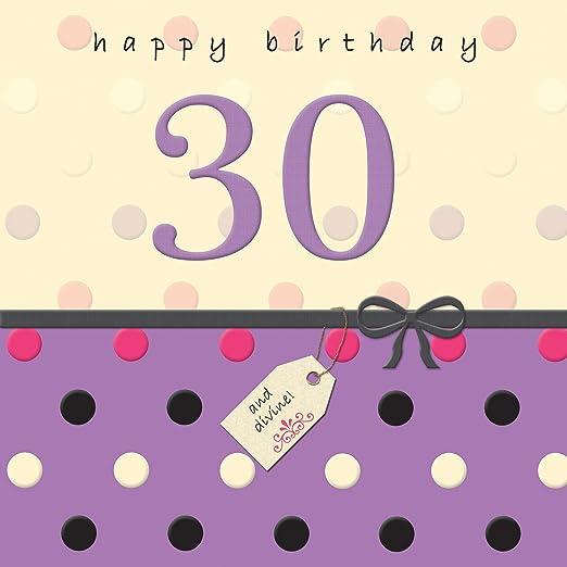 Twizler - Tarjeta de felicitación de 30 cumpleaños con ...