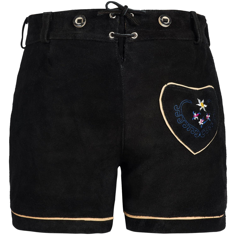 Gaudi-leathers Womens German Trachten Lederhosen Trousers Shorts GL2330DBraunK