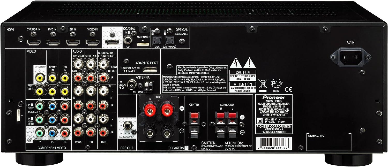 Pioneer Vsx 521 K 5 1 Av Receiver Hdmi 1 4a Mit 3d Und Arc Schwarz Heimkino Tv Video
