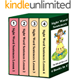 Sight Word Sentences - Lessons 1-4: 4 Books in 1! (English Edition)