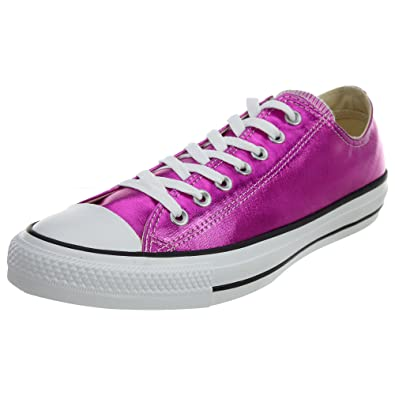 Converse Unisex Chuck Taylor All Star Low Top Magenta Glow/Black/White  Sneakers -