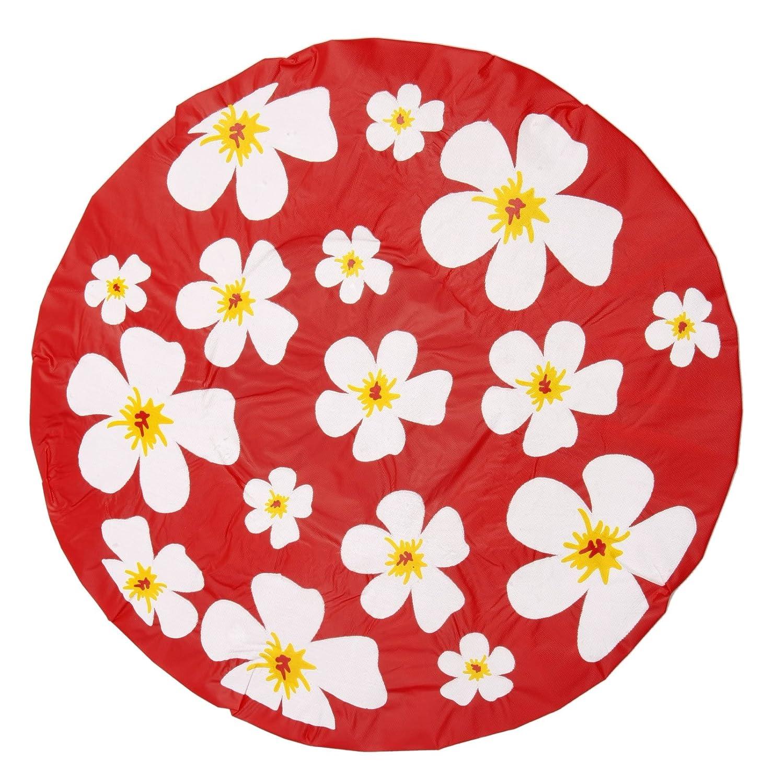 Bonnet de douche/charlotte de douche Motif fleurs Rouge Bestellmich.com