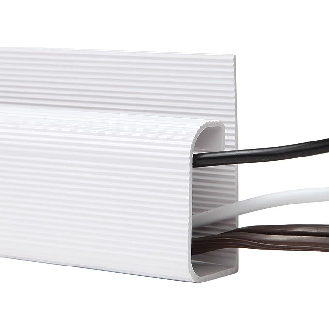 Organizador de cables de escritorio de SimpleCord - 5 canales de carraca - Kit de gestión de cubierta de cable para escritorios, oficinas y cocinas: ...