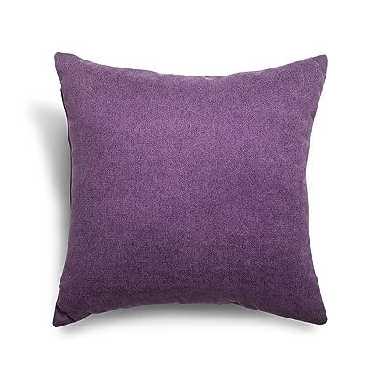 SuenosZzz- COJIN Relleno. Cojines Decoracion, Sofa,Cama, tapizado Acualine Antimanchas Lila. Medidas: 48x48. Decoracion CASA.