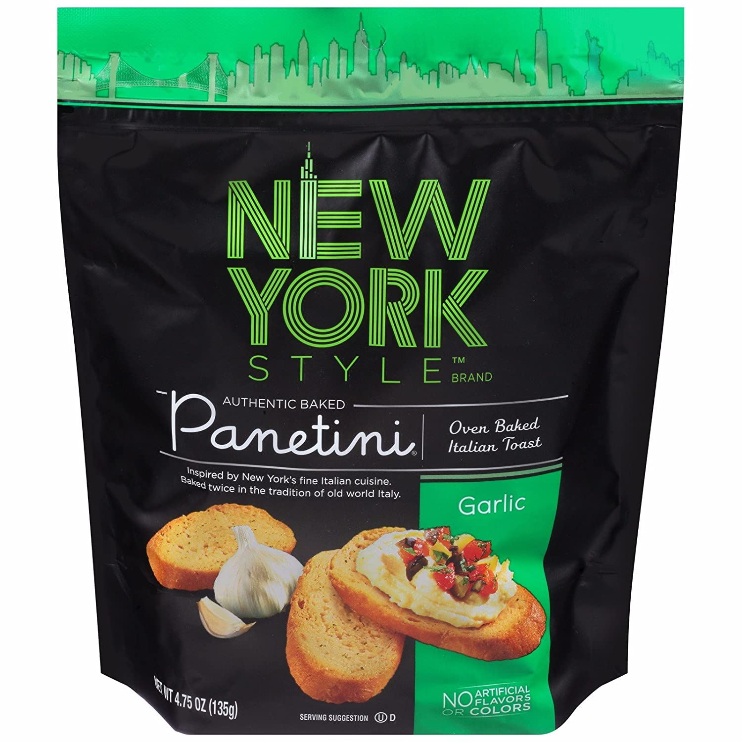amazon com new york style garlic panetini oven baked italian toast
