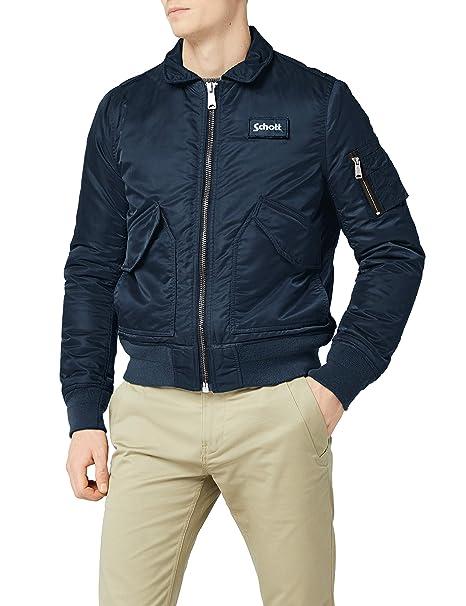 c28e79d35cd Schott NYC Men s Bomber Jacket  Amazon.co.uk  Clothing