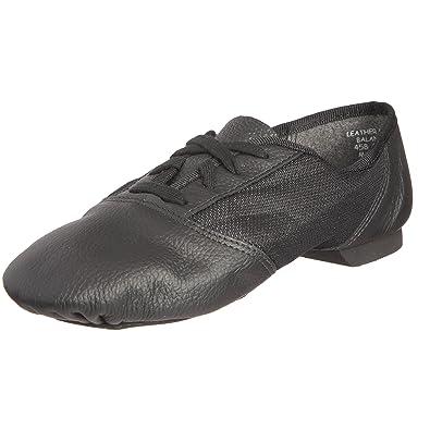 Capezio - Zapatos de cordones de cuero unisex, Negro (Black), 36