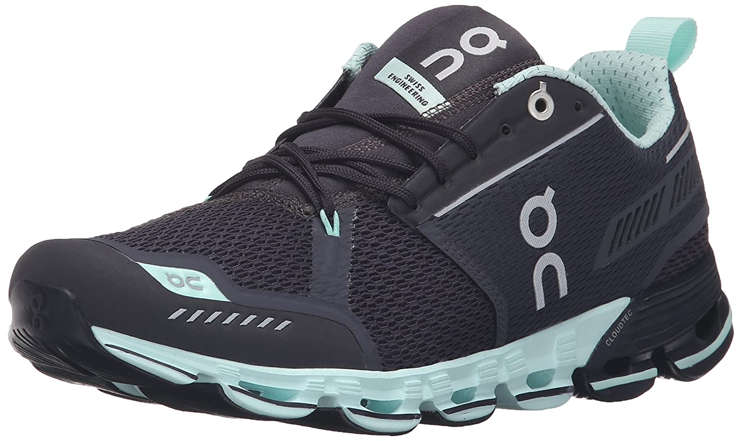 On Running Men's Cloudflyer Sneaker Iron/Sky B01HO04TRS 5 B(M) US - Women's|Grey/Jade