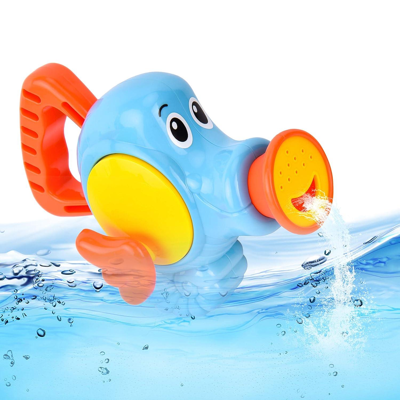 safe& care Jouet de Bain, Jeux d'Arrosage Bébé Enfant Poisson Splash Pégase Fille Garçon,Bleu MX-TRADE