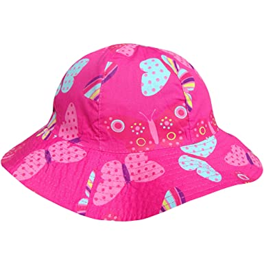 Girl s Wide Brim Rainbow Butterfly Summer Beach Sun Hat (3-6 Years (53cm fabd4e1cb7fd