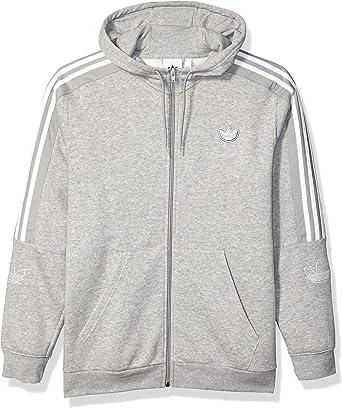 retrasar Relación Categoría  Amazon.com: adidas Originals Men's Outline Fleece Full-Zip Hooded Sweatshirt:  Clothing