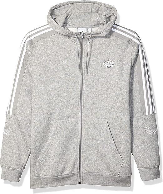 adidas Originals Herren Outline Fleece Full Zip Hooded Sweatshirt Jacke