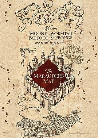 Amazon.com: MightyPrint Harry Potter (Marauders Map) Wall Art Next ...