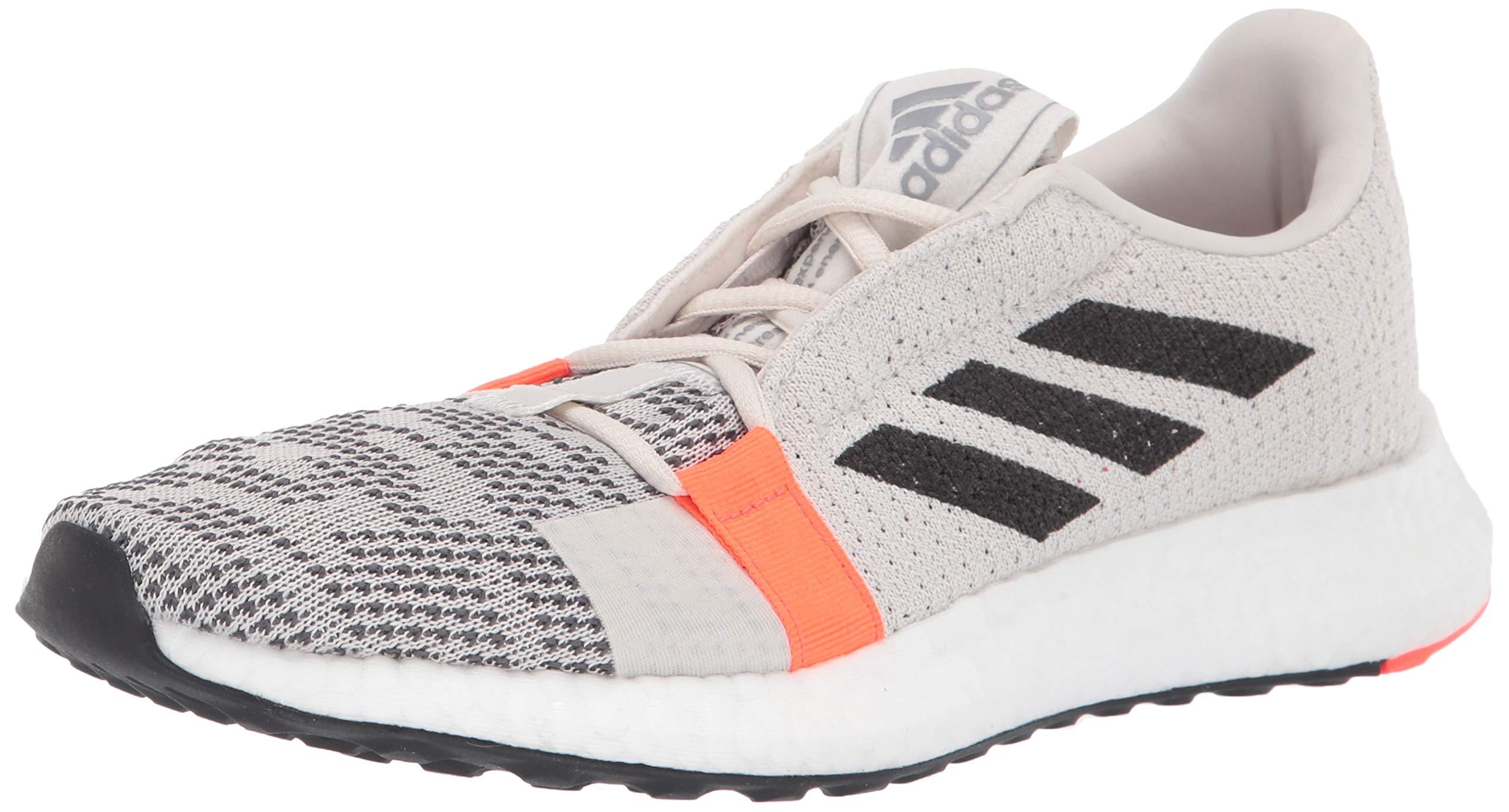 adidas Women's SenseBOOST GO Running Shoe, raw White/Black/Solar Red, 5 M US