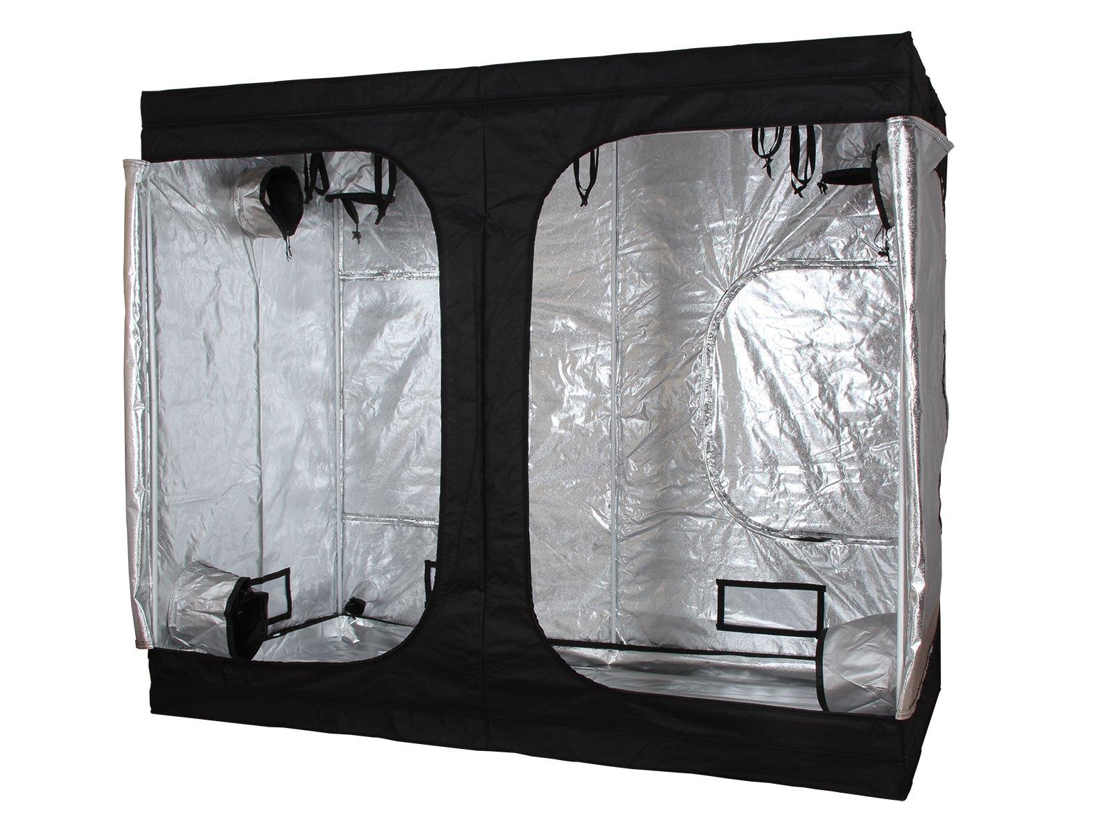 96''x48''x84'' Indoor Grow Tent Room 100% Reflective Mylar Hydroponic Non Toxic Hut 600D 8'x4'x7' HX-009684-P