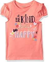 Gymboree Baby Toddler Girls' Kind Lovely Happy Coral Graphic Tee