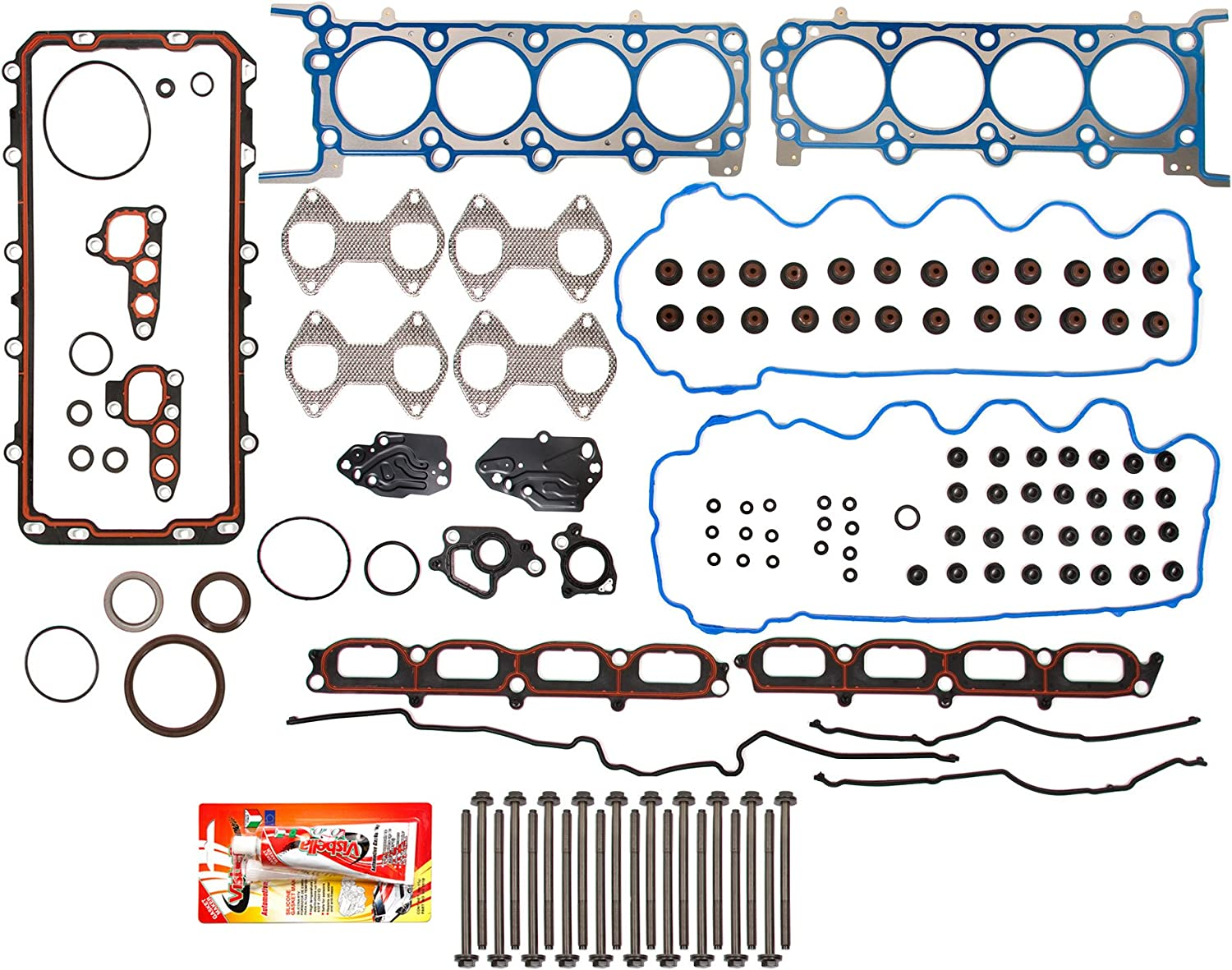 Fit 04-06 Ford F150 F250 Lincoln Mercury 4.6//5.4 Triton SOHC Valve Cover Gasket