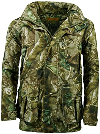 11ab94a9dcacc Game Mens Camouflage Camo Stealth Field Waterproof Jacket Hunting Shooting  Fishing Passion Green XXX-Large