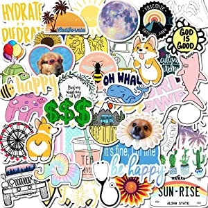 Vsco Stickers for Water Bottles, Waterproof Vinyl Stickers for Laptop Girls Stuff Stickers for Phone Case Computer Car Hydro Flask 50pcs (Dog)
