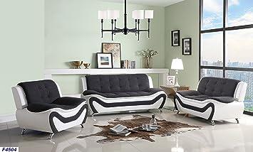 Amazon Com Beverly Fine Furniture F4504 3pc Three Piece Sofa Set