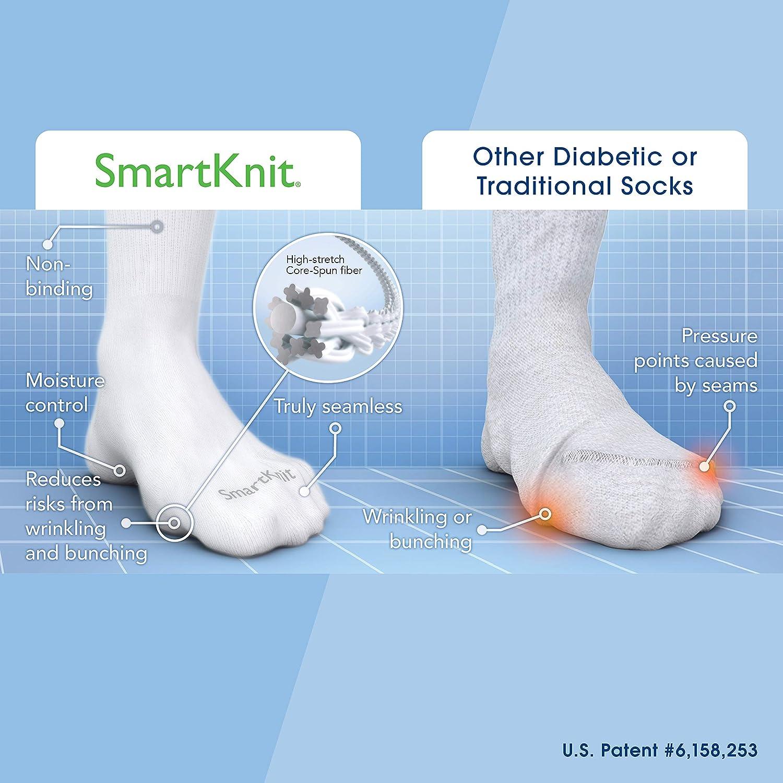 a4bb3dbde12 Amazon.com  SmartKnit Seamless Over-The-Calf Socks for Diabetes ...
