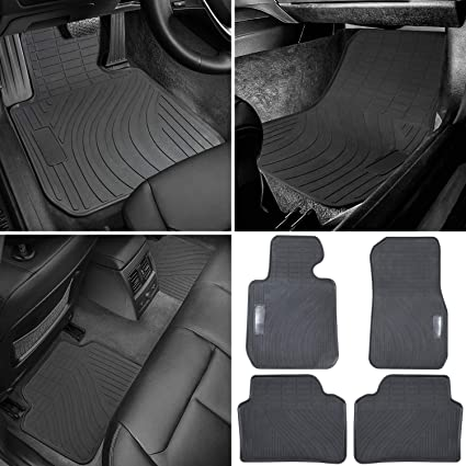BMW Heavy Duty Rubber Front+Rear Mats (Black 4PCS)