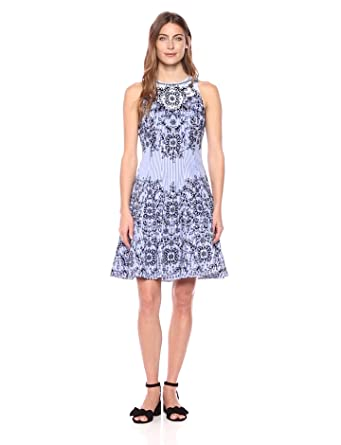 5bf910348a6a8 Maggy London Dotty Fit   Flare at Amazon Women s Clothing store