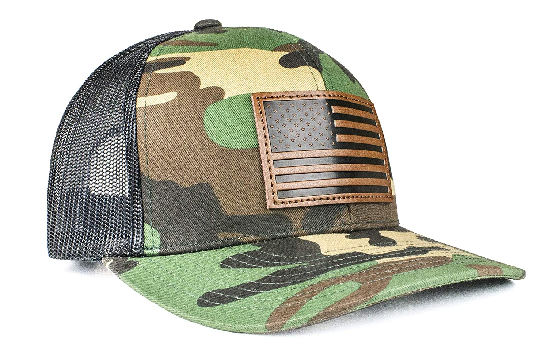 Cowbucker USA Mesh Trucker Hat Snapback Baseball Cap Camo//Black USA Hat Sun Protection