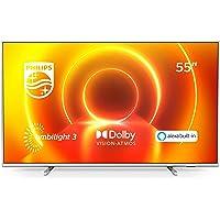 Philips 55PUS7855/12 Ambilight Televisor 4K UHD de 55 Pulgadas (P5 Picture Engine, Asistente Alexa integrada, Smart TV…