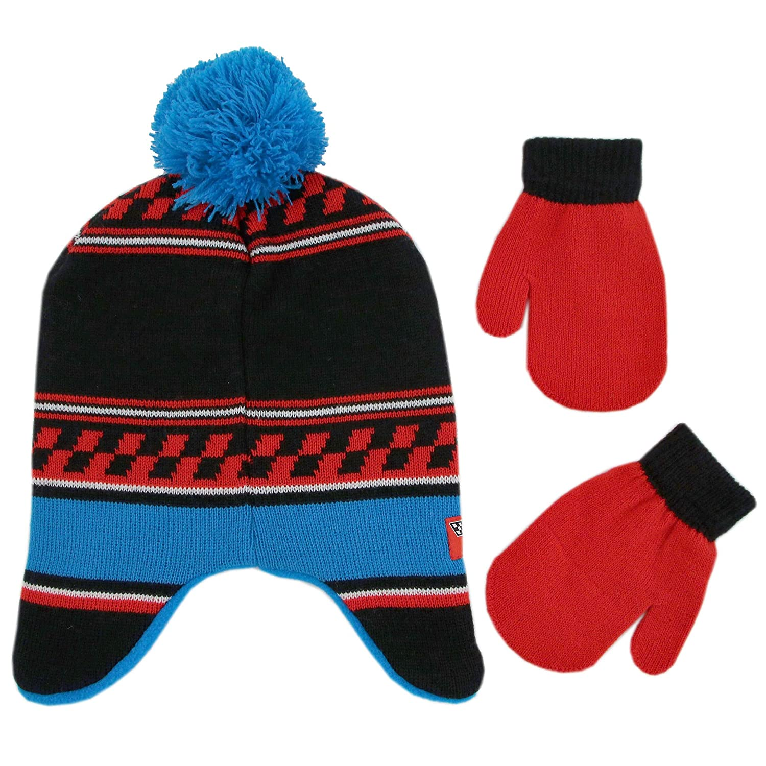 f60301a90d5 Amazon.com  Disney Boys  Toddler Cars Lightning McQueen Hat and Mittens  Cold Weather Set