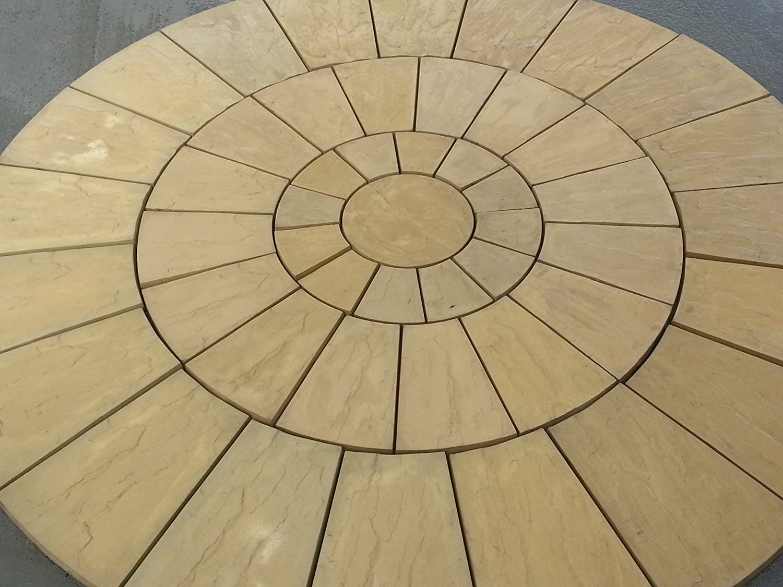 Stone Concrete Circle Patio Paving Set 3.0 Meters.: Amazon.co.uk: Garden U0026  Outdoors