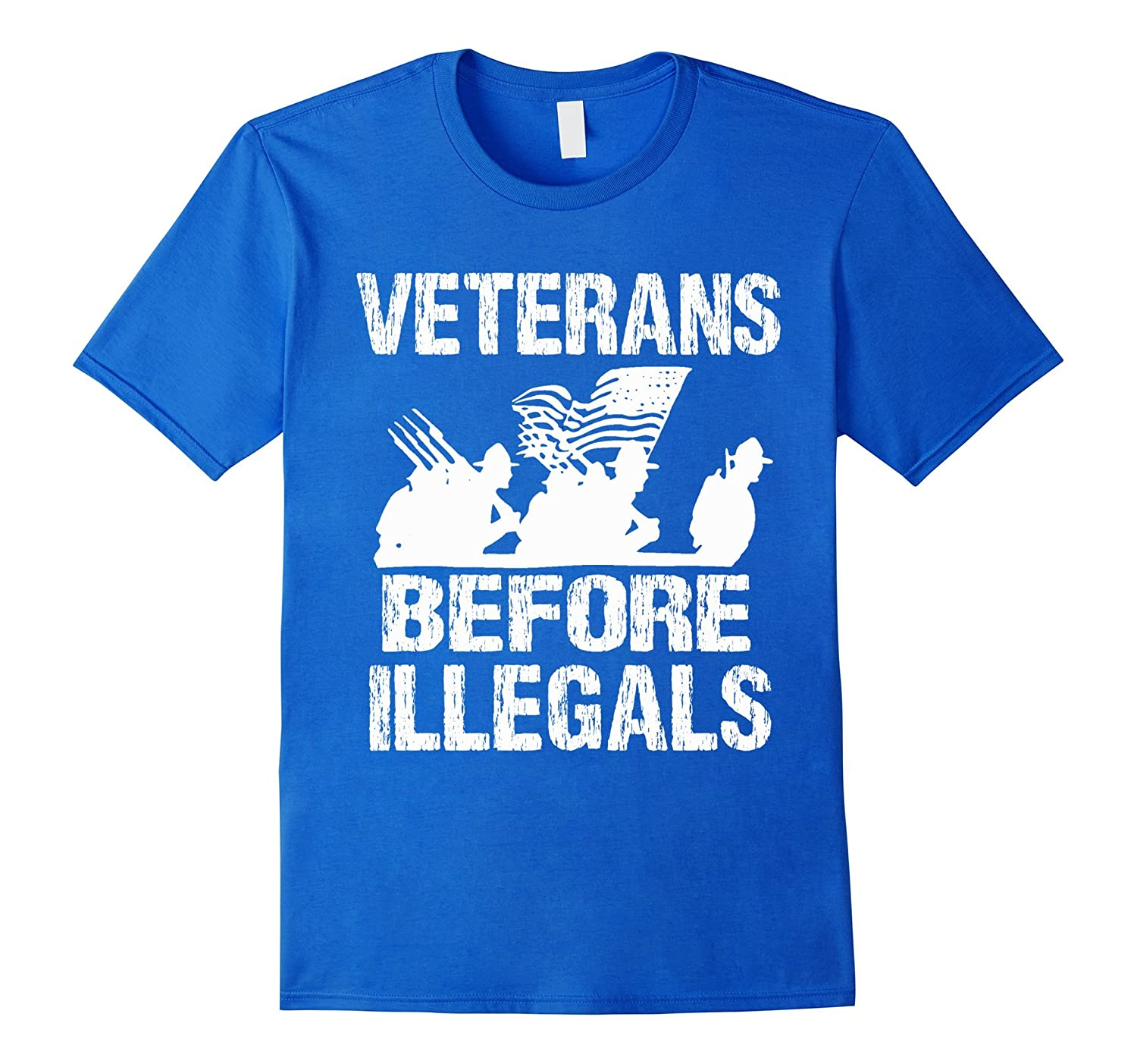 Veterans before illegals military american flag t shirt for Veteran t shirts patriotic t shirts