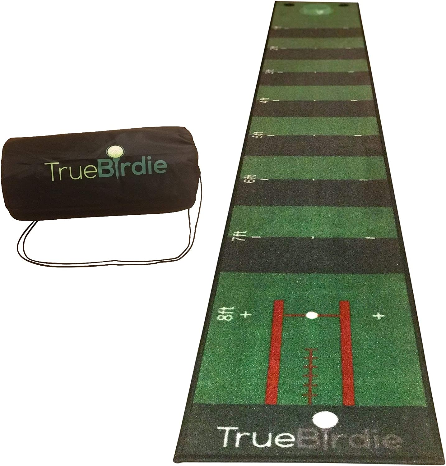 TrueBirdie Indoor Putting Green and Golf Mat with Travel Bag