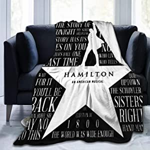 "Hamilton Ultra Soft Micro Fleece Blanket Home Decor Warm Flannel Throw Blanket for Couch Bedroom Living Room Sofa (50""x40"")"