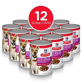 Hill's Science Diet Adult Savory Stew with Beef & Vegetables Canned Dog Food