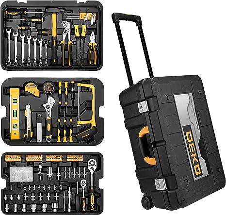 DEKO Maletín de Herramientas 258 Piez,Kit de Herramientas Completo Set de Herramientas,Caja de Herramientas con Ruedas: Amazon.es: Bricolaje y herramientas