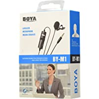 Boya Omnidirectional Lavalier Condenser Microphone with 20 feet Audio Cable