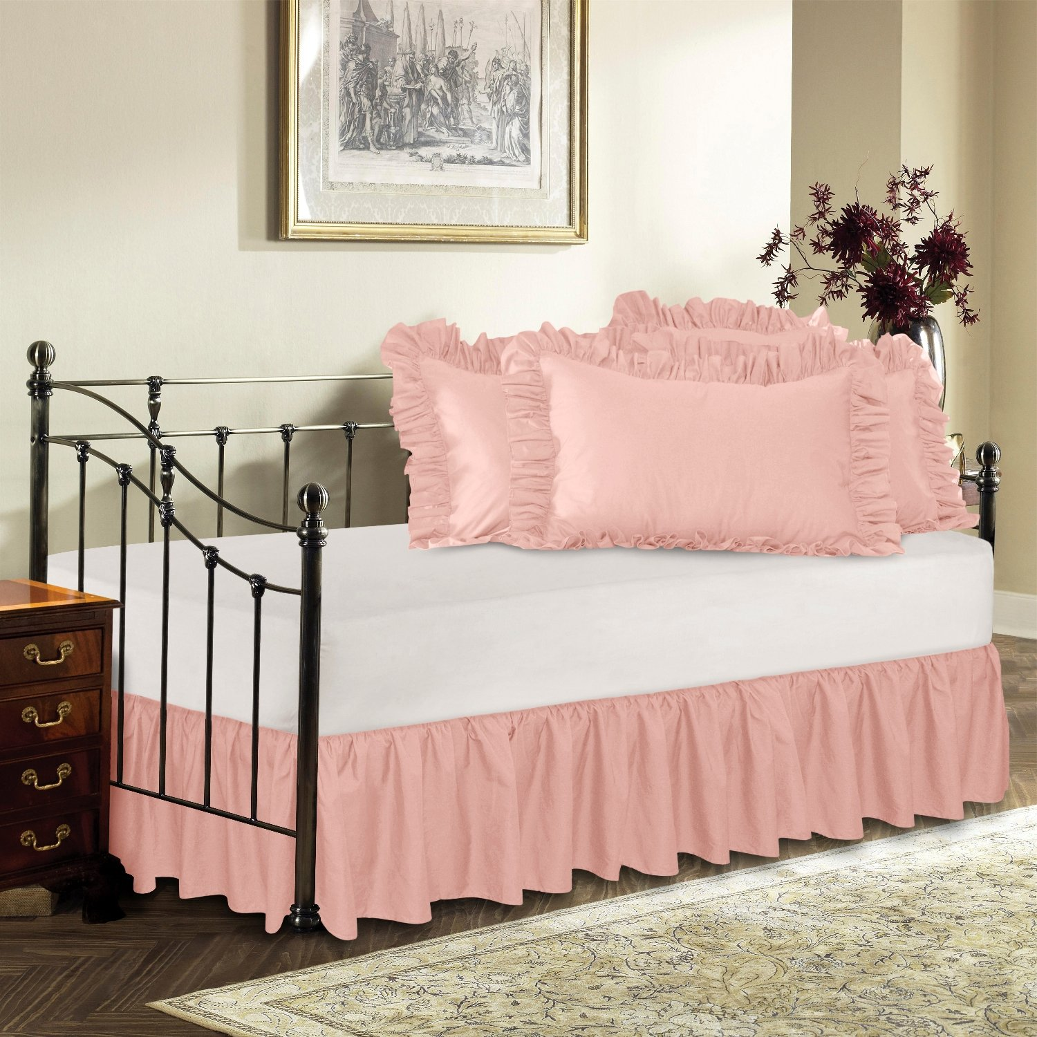 Amazon.com: Harmony Lane Day Bed Ruffled Bed Skirt, Sage, 18'' Drop Bedskirt  ( Available in 16 Colors): Home & Kitchen - Amazon.com: Harmony Lane Day Bed Ruffled Bed Skirt, Sage, 18