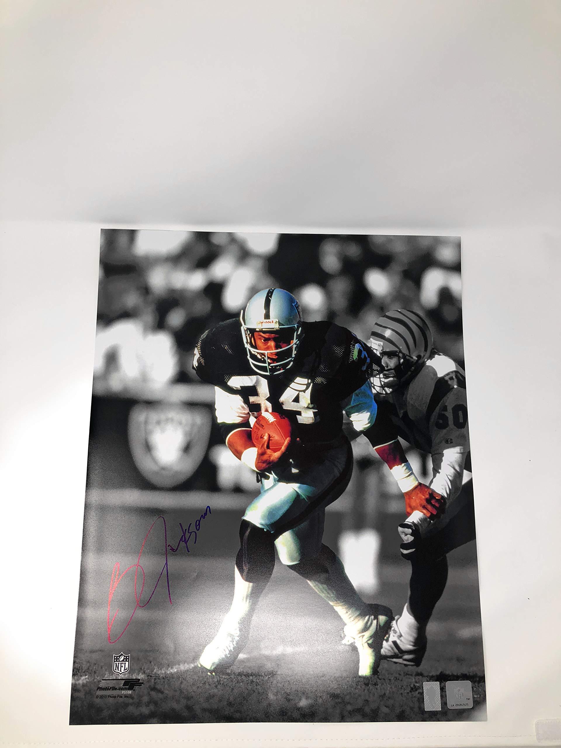 Bo Jackson Oakland Raiders Signed Autograph 16x20 Photo Photograph Spotlight GTSM Jackson Player Hologram Certified