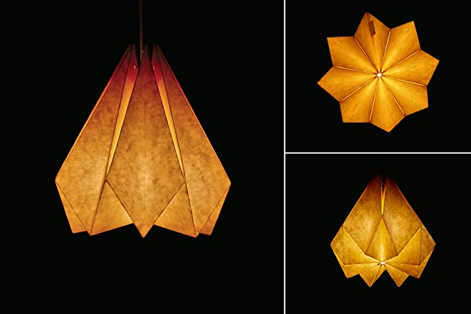 Amazon.com: brownfolds lámpara de Origami de papel sombra ...